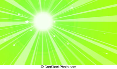 """Sun Retro Background with Rainbow Rays"""