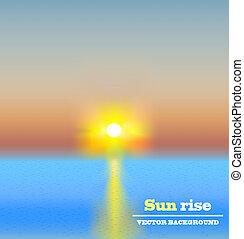 sun rise background vector