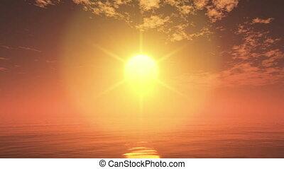 sun rise from forizon