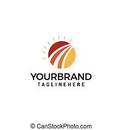 Sun rise Logo Design Template