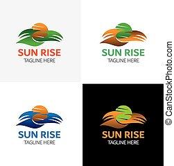 Sun Rise Logo Template