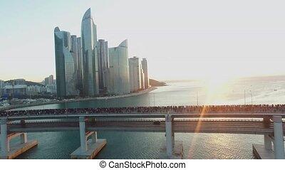 Sun Rise of GwangAn Bridge
