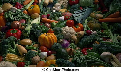 Sun Rises On Vegetables - Nutrition Concept - Sunrise on...