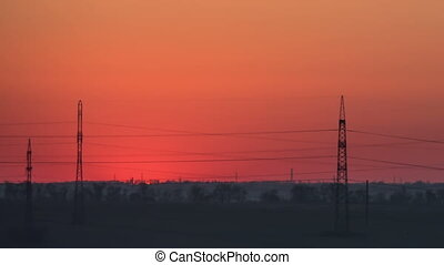 Sun Rises over the Horizon