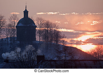 Sun rising in Pinczow