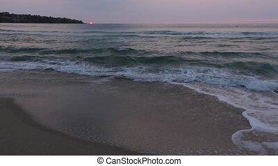 Sun Rising Over Horizon and Morning