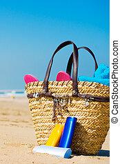 sun screen on the beach