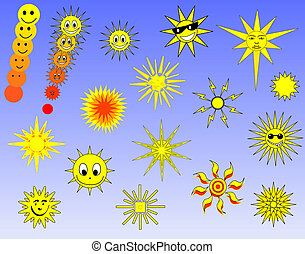 Sun selection - Collection of sun designs