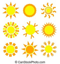 sun set collection in yellow illustration