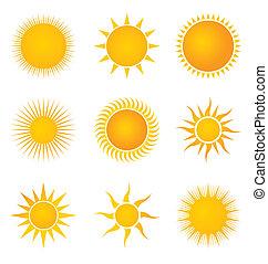 Sun set icons