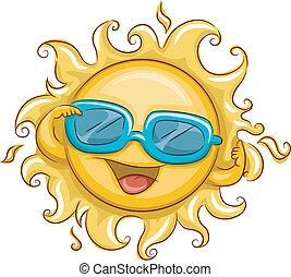 Sun Shades - Illustration of the Sun Wearing Sunglasses