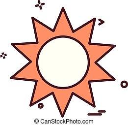 sun shine hot icon vector design