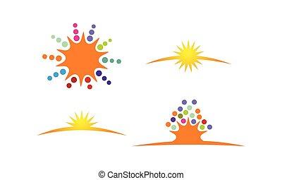 Sun Shine Logo Template