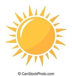 Sun shining icon