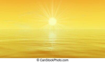 Sun shining on water