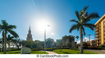 Sun shining over West Palm Beach