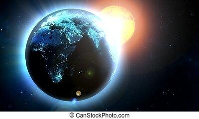 Sun Shinning on Earth