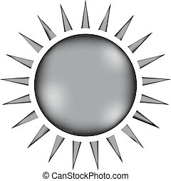 Sun sign icon. - Sun sign icon on white background. Vector...