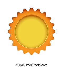 Sun sign on the white background.