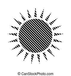 Sun sign on white. - Sun sign on white background. Vector...