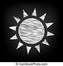 Sun sign. Scribble effect