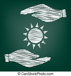 Sun sign scrible effect