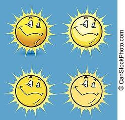 Sun Smiley Vector Set