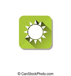 Sun Solar Energy Eco Organic Environment Clean Care Icon
