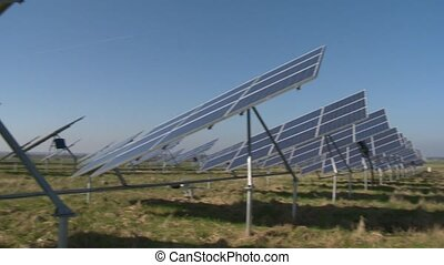 Modern equipment generating energy from sunlight - Sun solar...
