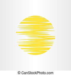 sun stylized abstract energy icon alternative energy background