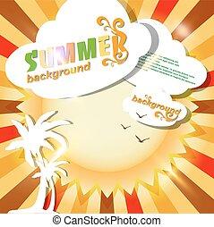 Sun summer abstract background