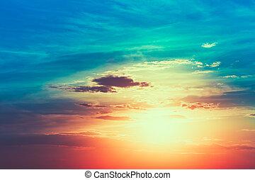 Sun, sunset, sunrise