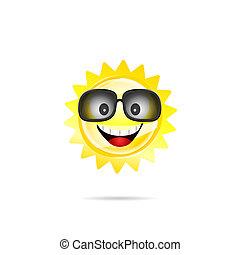 sun sweet with sunglasses illustration