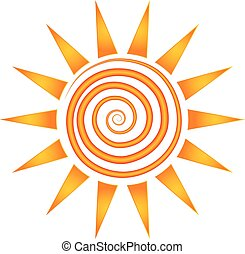 Sun rays logo. Vector company logo element template of abstract sun ...