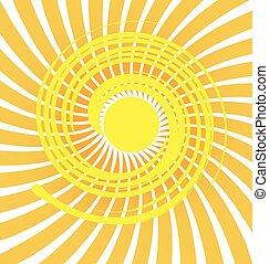 Sun swirly rays background - Sunburst swirly background...