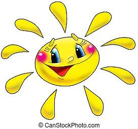 Sun. - The cheerful sun with the big eyes.