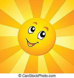 Sun theme image 7 - vector illustration.