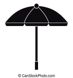 Sun umbrella icon, simple style - Sun umbrella icon. Simple...