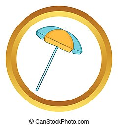 Sun umbrella vector icon
