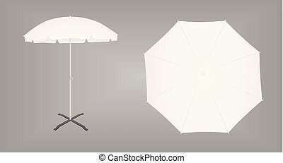 Sun umbrella. vector illustration