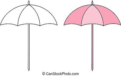 Sun umbrella - Vector illustration of beach sun umbrella