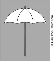 Sun umbrella - Vector illustration of beach sun umbrella