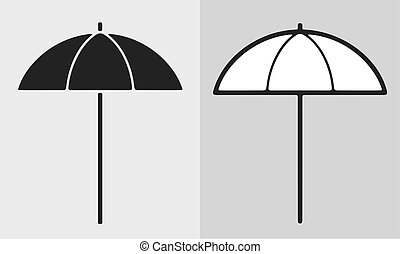Sun umbrella - Vector illustration of sun umbrella, clothes ...