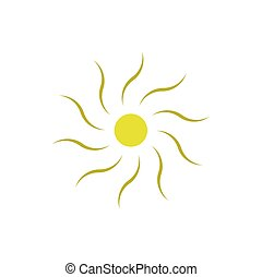 sun vector element icon logo symbol