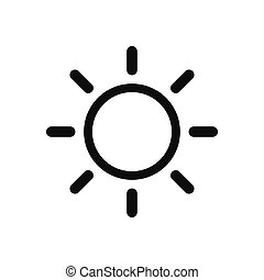 Sun vector icon, summer symbol in modern design style for web site and mobile app
