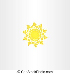 sun vector illustration sign