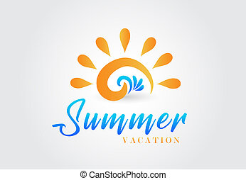 Sun waves logo