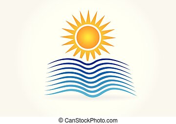 Sun waves logo