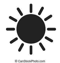 sun weater icon - sun weater season icon nature illustration...