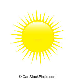 Sun. Weather forecast glossy icon